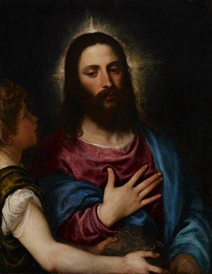 Religion: New Testament. Jesus Christ. Reverse is cradled.
