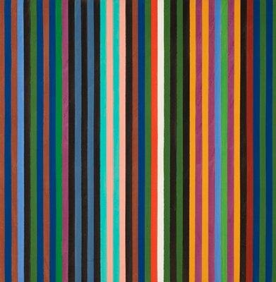 multi-colored vertical stripes of uniform width
