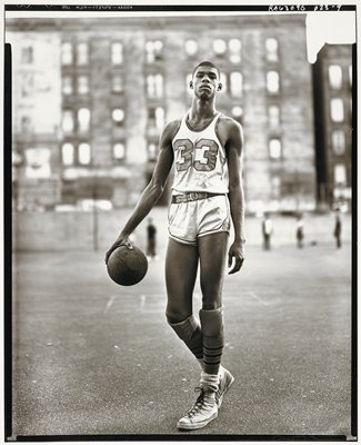 Lew Alcindor, basketball player, 61st Street and Amsterdam Avenue, New York, May 2, 1963