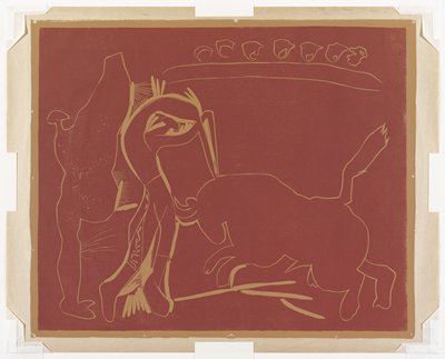 From a set of five progressive working proofs for Le Banderillo.