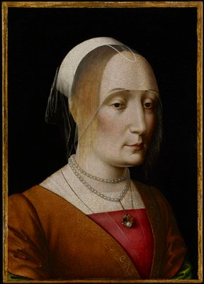Bust-length portrait of an unknown woman