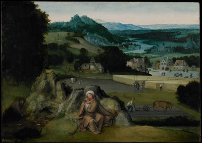 Religion: NT. Madonna and Child. Rest on the Flight into Egypt.