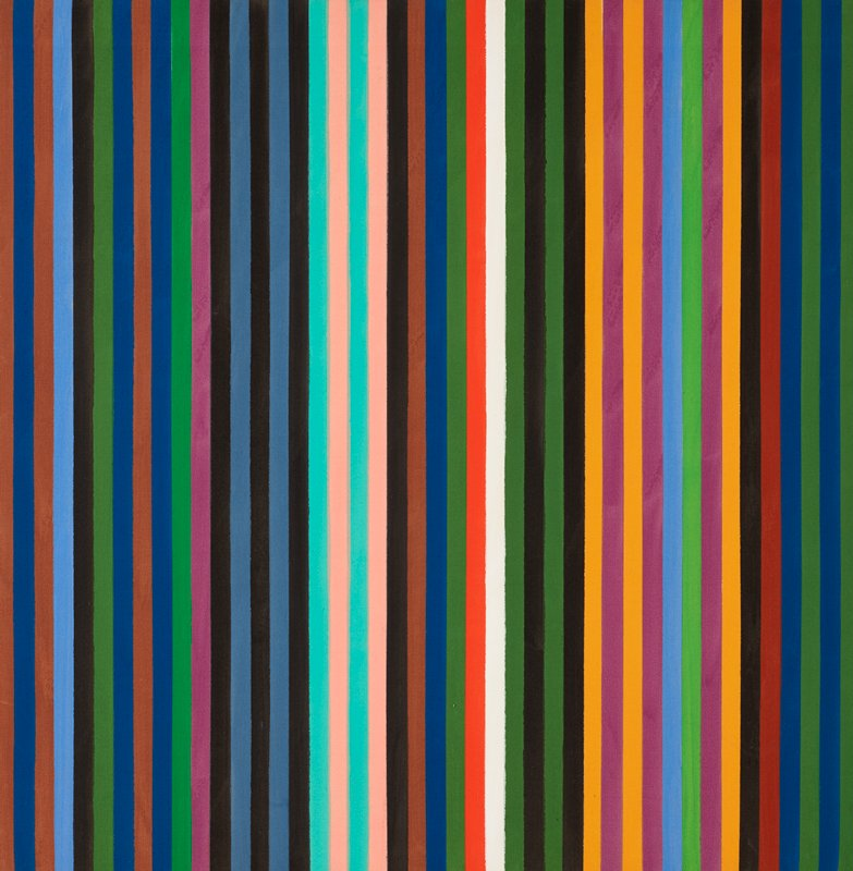 multi-colored vertical stripes of uniform width