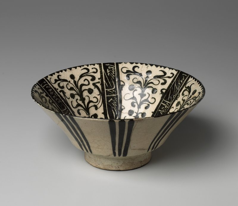 Bowl, Black Painted underglaze