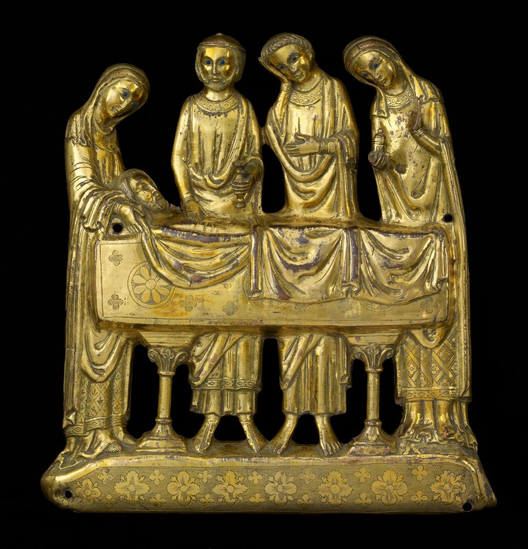 The Anointing of the Body, copper, enamel frieze