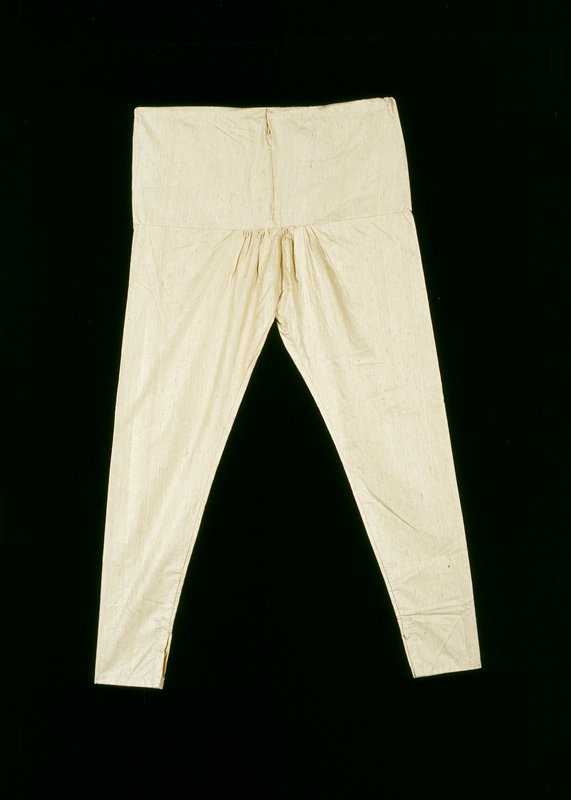 beige silk pants with drawstring; go with tunic (97.189.55)