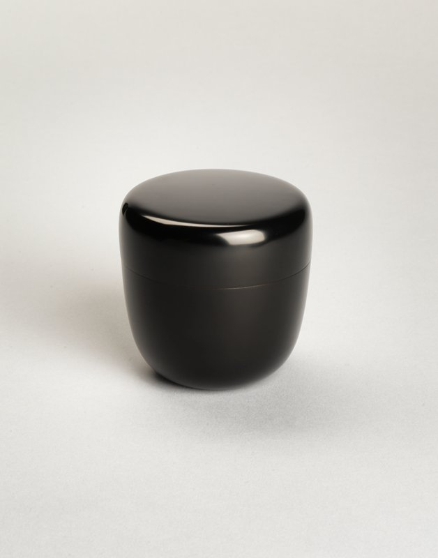 plain black matte tea container