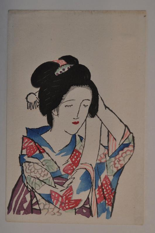 woman with eyes closed and hands on her head