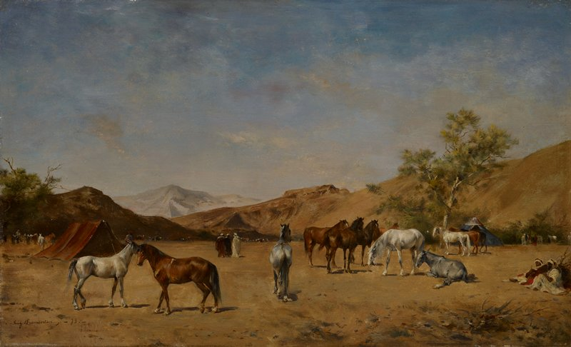 Landscape with cattle.