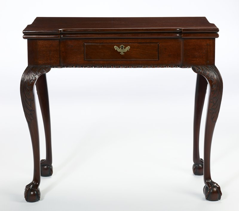 a very similar table exists in the collection at Mount Vernon; a. table; b. drawer.; Holiday Traditions, Providence Room