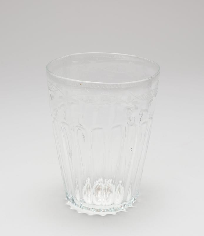 etched water glass