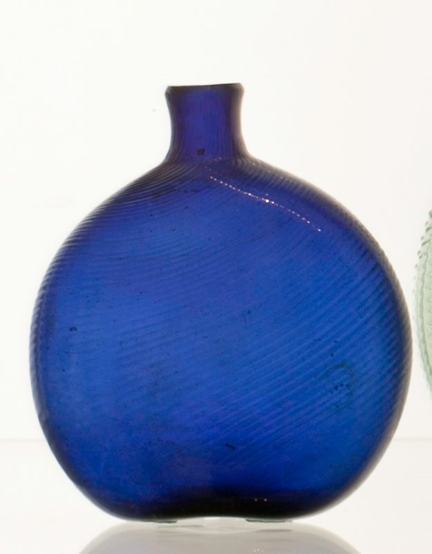 bottle, blue,glass