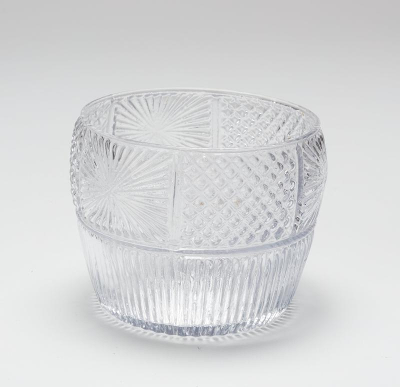 bowl, patterned glass