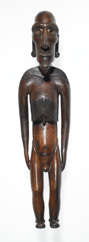 figure, called Moai-Kava-Kava; toromiro wood