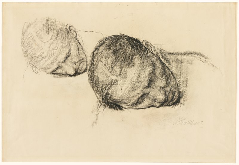 "Preliminary study for ""Pieta"" lithograph (1903)"