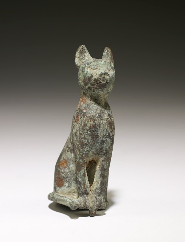 figure of a cat, bronze