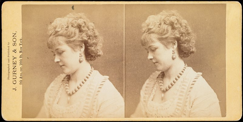 English actress (died 1883); from wet plate negative