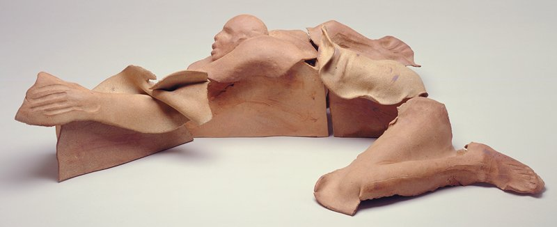 Mary Frank, 'Running Man', ceramic sculpture, 5 pieces to sculpture