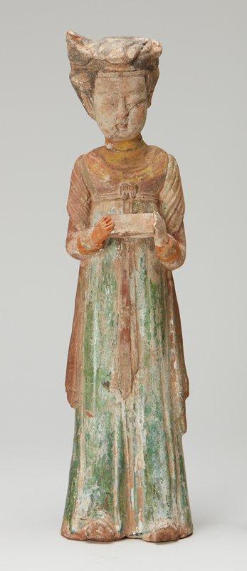 standing figure in flowing robe
