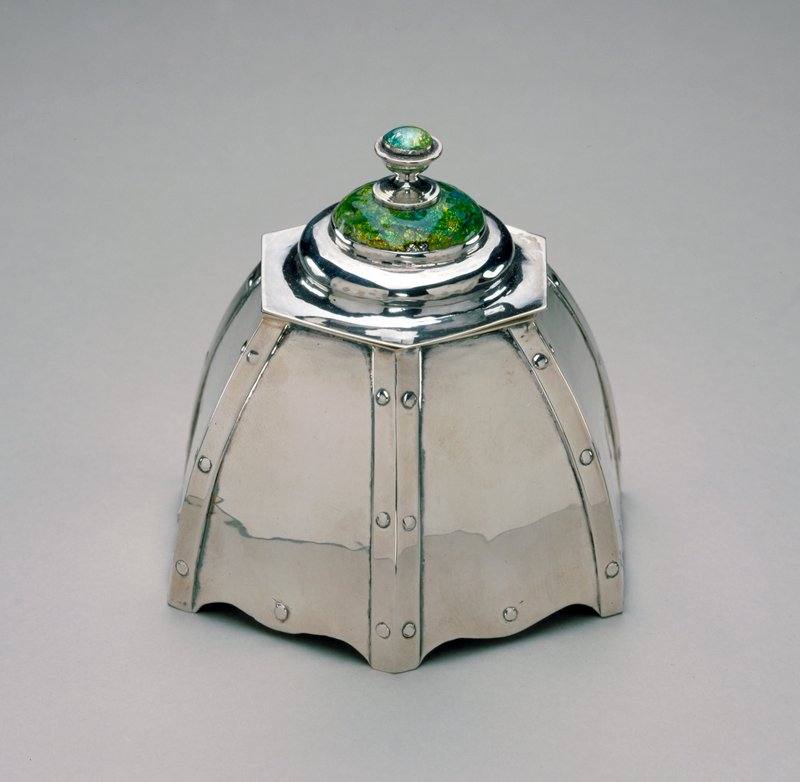 Guild of Handicraft, 'Inkwell', silver, England XXc.