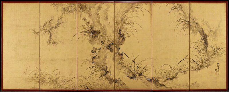 left 3 panels show close image of bamboo plant; right 3 panels bamboo grove at top as a background with continuation at lower quarter of left panels