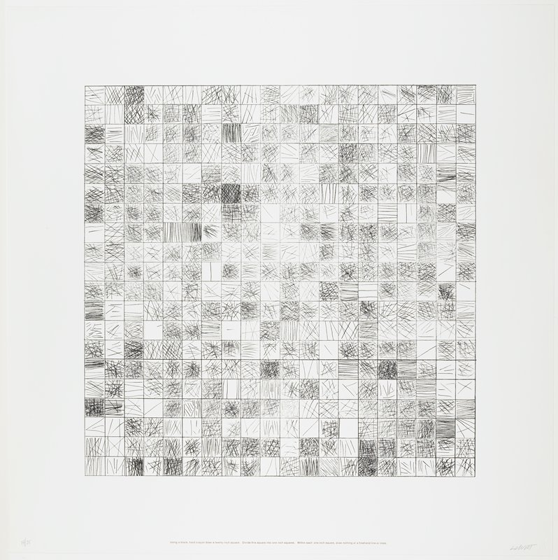 Plate 7 From Work From Instructions Sol Lewitt Publisher Nova