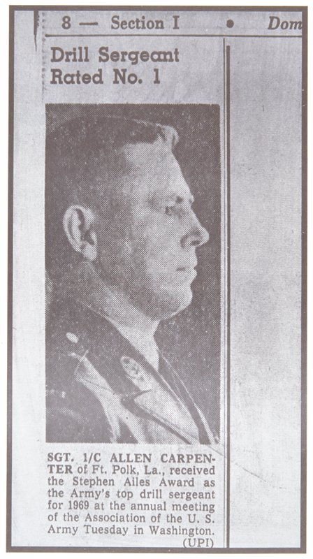 newspaper photograph profile of a man in military uniform