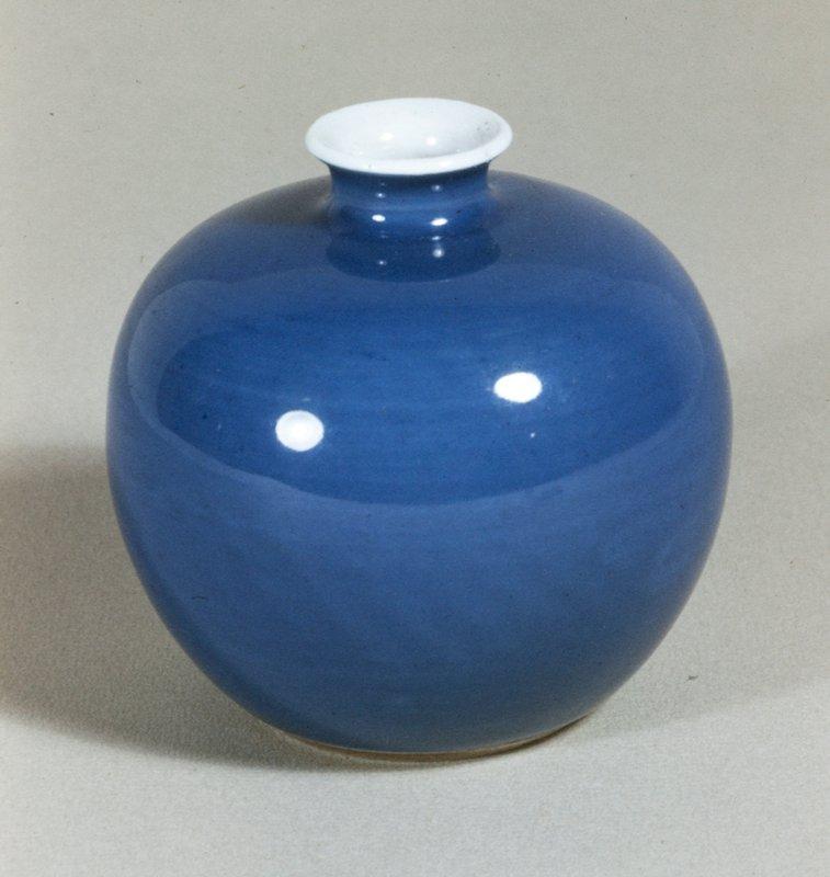 Bottle, bulbous, midnight blue