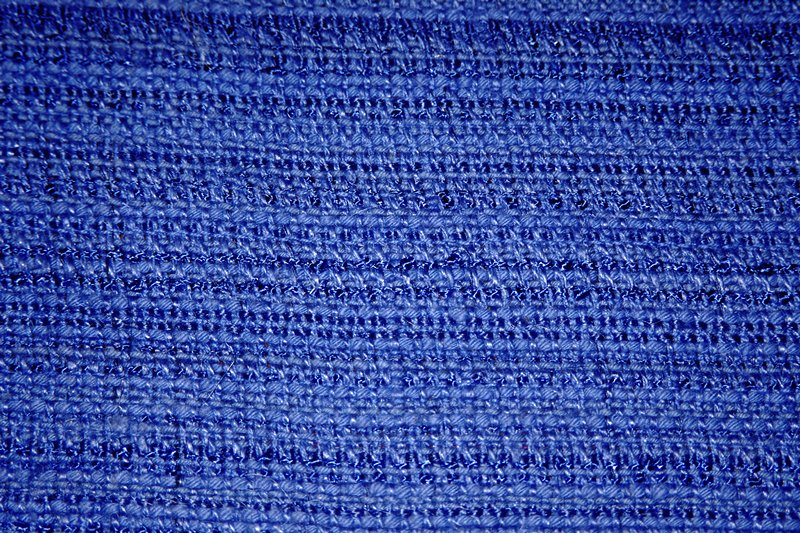 Twill and plain weave mix using thick and thin threads in both warp and weft, dull and shiny. Twill and plain weave mix using thick and thin threads in both warp and weft, dull and shiny. (copen blue)