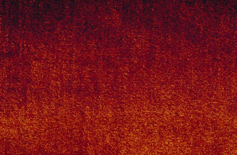 Velvet with 100% silk face. Orange Persimmon